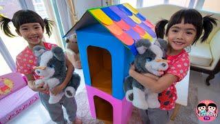 หนูยิ้มหนูแย้ม   สร้างบ้านน้องหมา จากกล่องกระดาษ