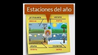 Времена года на испанском языке. Урок