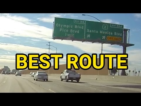 Fastest Way to Santa Monica | Dash Cam California Morning Drive