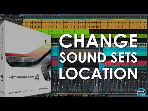 Studio One 4 - Change Sound Sets Location