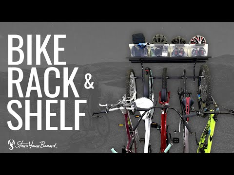 5-bike-storage-rack-+-shelf-|-wall-mounted-organizer-|-storeyourboard