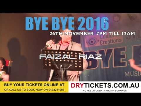 BYE BYE 2016  Get your tickets now  26th November at Bonnyrigg Sports Club
