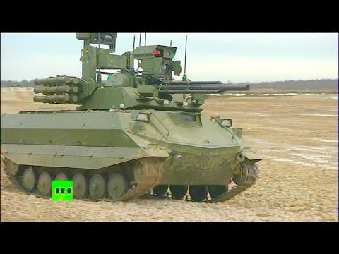 RT - Uran-9 Unmanned Ground Combat Vehicle Live Firing [1080p]