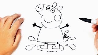How to draw Peppa Pig | Peppa Pig Easy Draw Tutorial