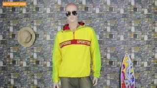 Fashion windbreaker men rain pullover jacket custom with taslon fabric JAKS0004