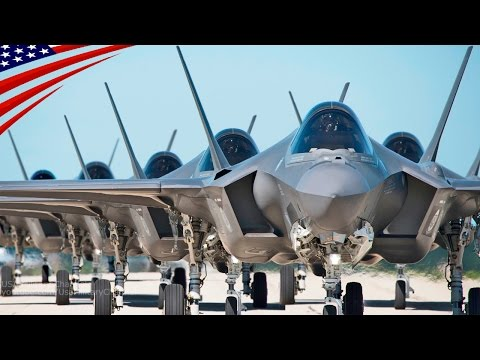 US Military's Largest F-35 Stealth Fighter Jet Deployment Exercise - 米軍史上最大の最新鋭ステルス戦闘機F-35の展開演習