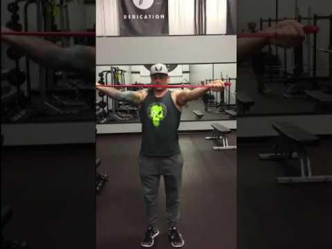 Banded Shoulder Activation Warmup | Pursuit Nutrition and Training Gym | Windsor Colorado