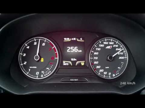 Seat Leon Cupra 2014, 280 PS version – acceleration 0-250 km/h