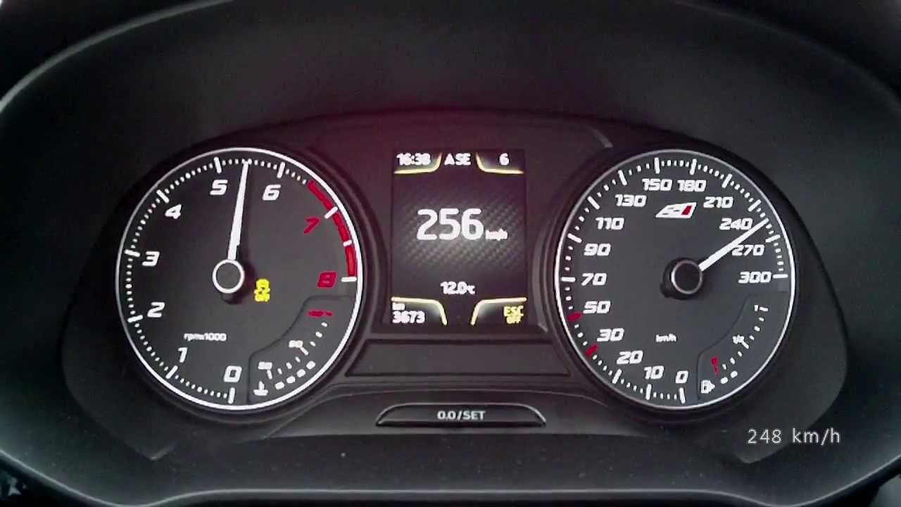 Seat Leon Cupra 2014 280 PS version  acceleration 0250 kmh