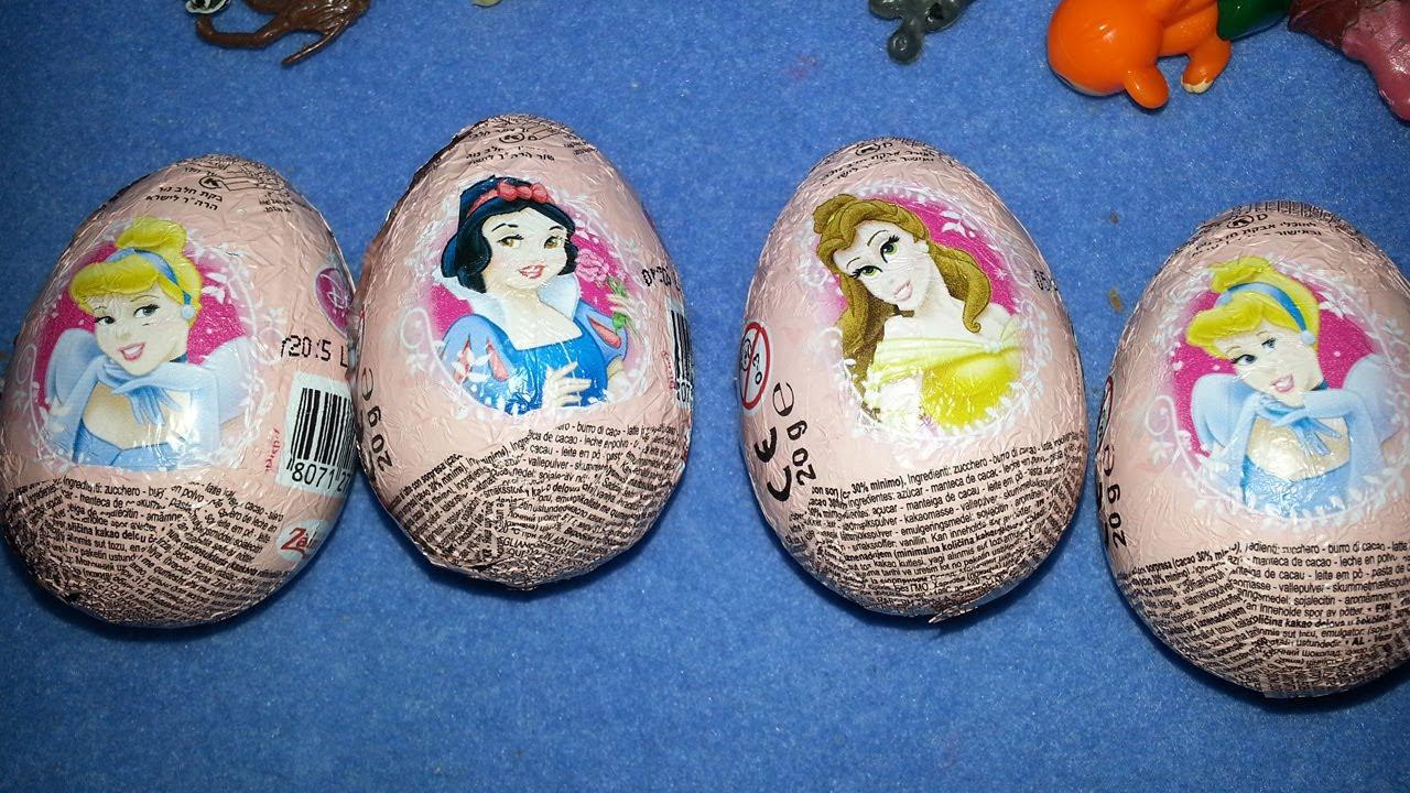 4 toys surprises disney princess kinder easter egg