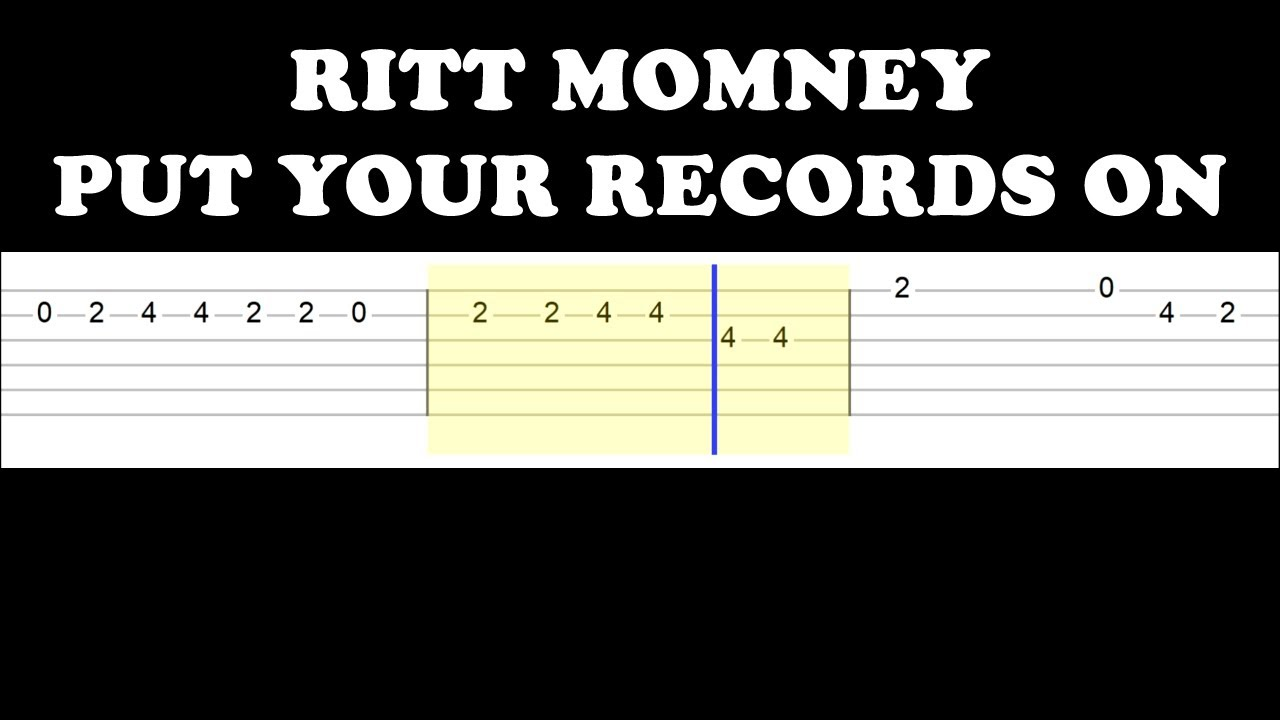 Ritt Momney   Put Your Records On Easy Guitar Tabs Tutorial