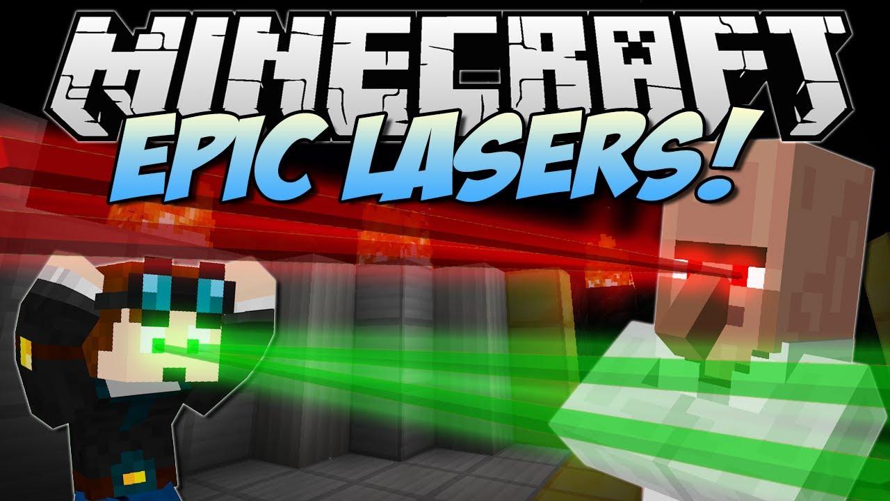 Minecraft   EPIC LASERS! (Burn, Push, Harm and Loads More!)   Mod Showcase