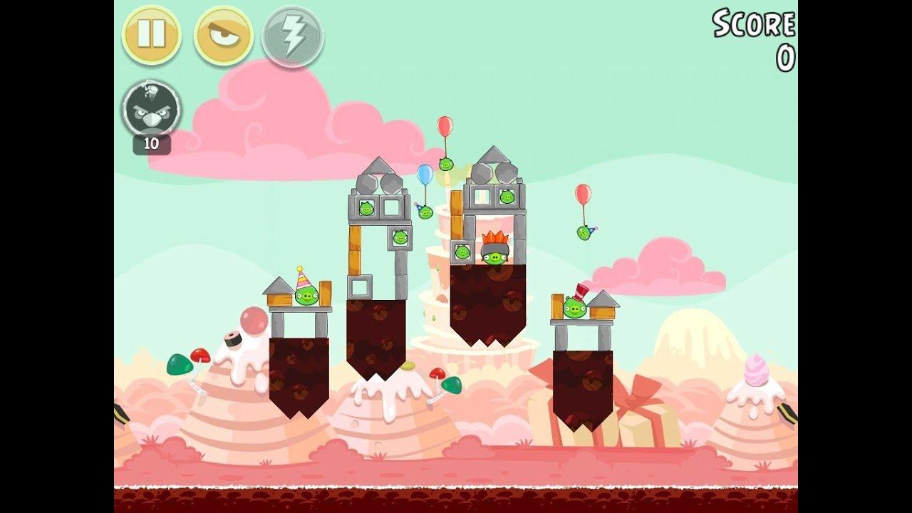 Angry Birds Birdday Party Cake 4 Level 4 Walkthrough 3