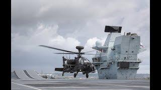 A First - British Army Apache Lands Aboard Royal Navy Carrier HMS Queen Elizabeth