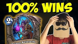 This deck is OVERPOWERED! 100% Win Rate to LEGEND!   Tempo Rogue with Prince Keleseth   Hearthstone