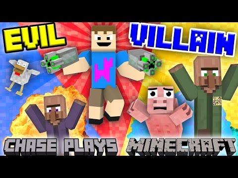 EVIL CHASE plays MINECRAFT!  Revenge on the Village Destroyer (FGTEEV Gameplay)