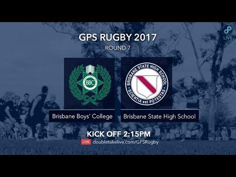 GPS Rugby 2017: Brisbane Boys' College v Brisbane State High School