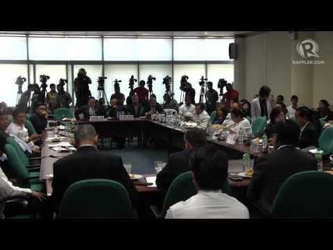 BDO's Edwin Reyes presents the bank's case before Senate