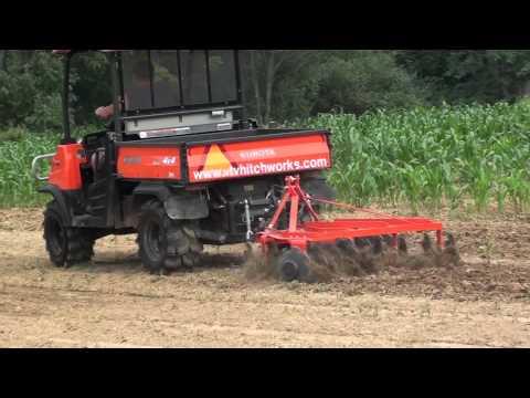 UTV Hitchworks - The Farmboy On The RTV 900 Pulling A 425 Lb. Disc Harrow