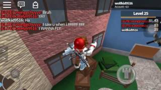 Playing Roblox murder mystery two