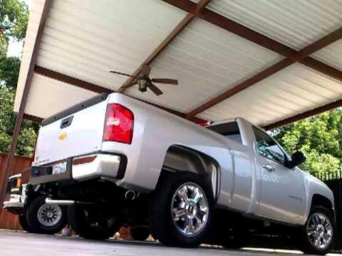 2012 Chevy Silverado 4.3 dual magnaflow exhaust - YouTube