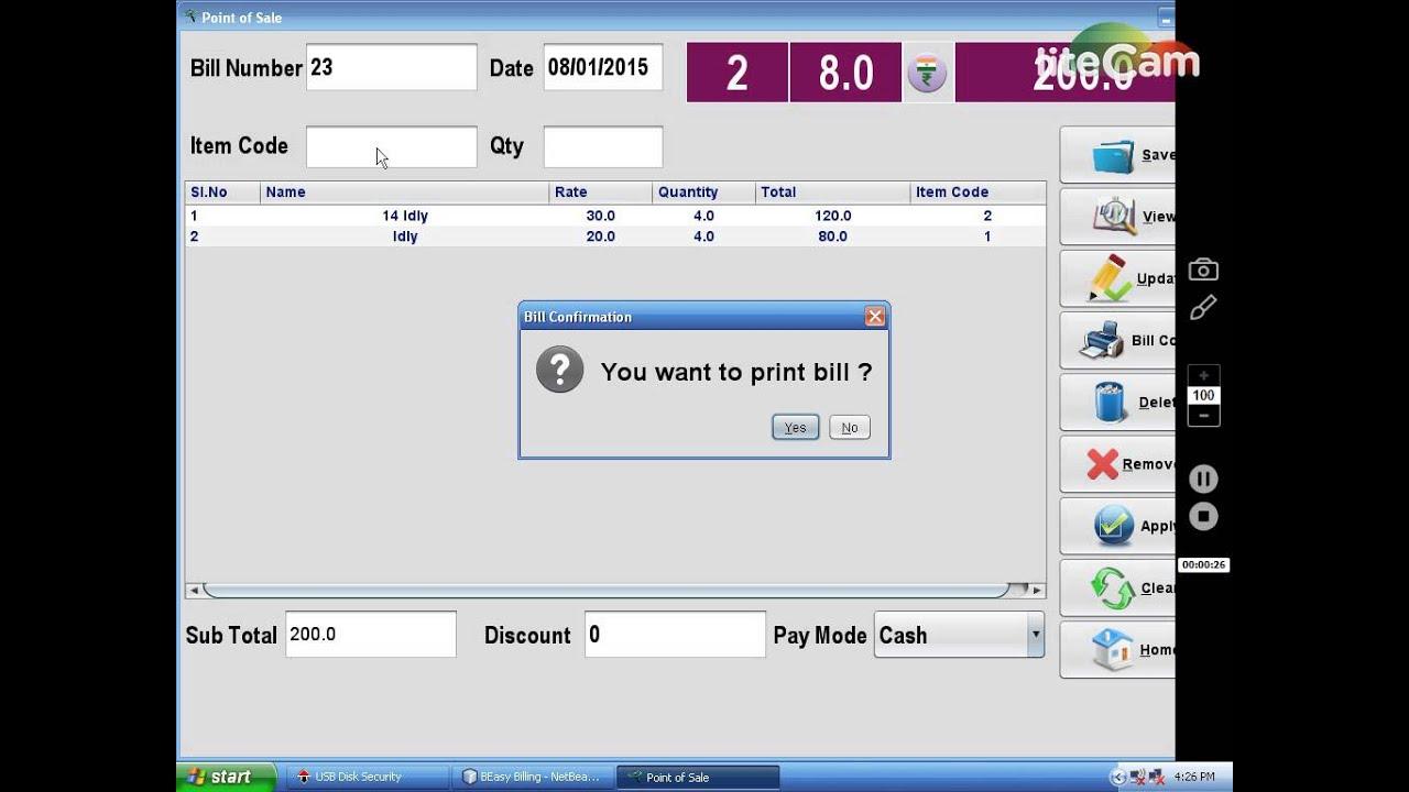 easy billing software basic model youtube
