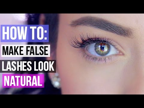 fa90250dc1f How To Make False Eyelashes Look Natural! =) - YouTube
