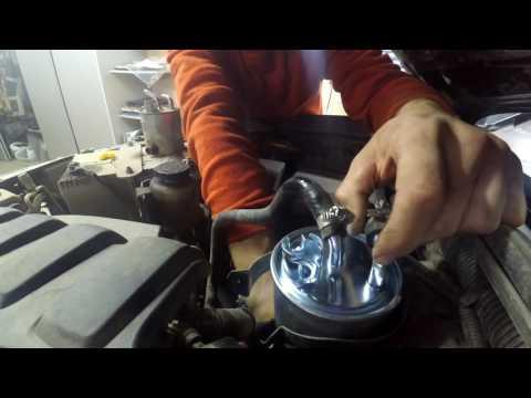 Замена топливного фильтра Nissan Navara 2008г.короткая вервия