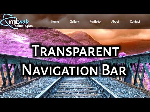 How To Create Transparent Navigation Bar Using Html And Css