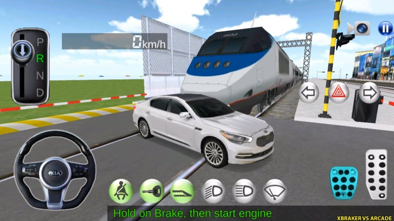 Korean Car Driving Simulator #KIA - Driver's License Examination Gameplay