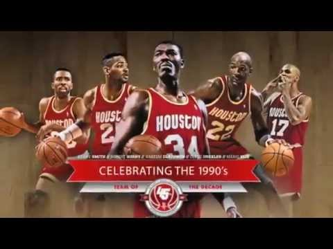 Rockets 1990's All Decade Team.