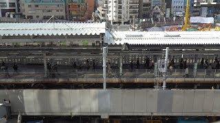 JR渋谷駅埼京線ホーム移設工事の建設状況(2020年2月24日)
