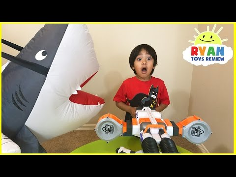 Thumbnail: Giant Pet Shark Attack Ryan! Family Fun playing chase Activities for kids
