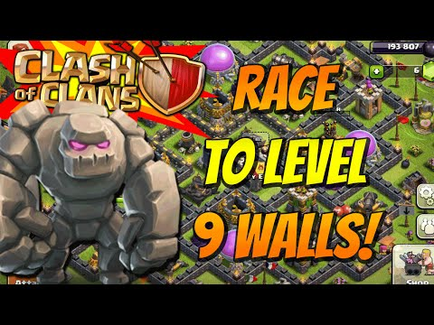 Clash Of Clans Race To Level 9 Walls! #1