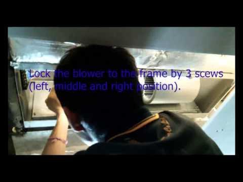 Trane service from underneath FCU