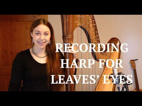 Recording Harp for LEAVES' EYES - Sign of the Dragonhead