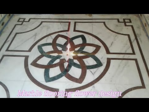Amazing Marble Flooring Flower Design - YouTube