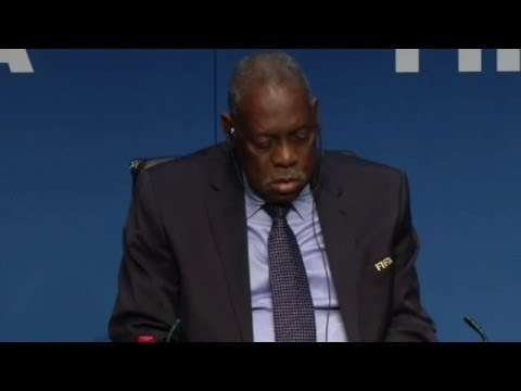 Issa Hayatou sleeping during FIFA press conference!