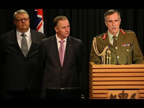 John Key and Tim Keating Outline Iraq Deployment - YouTube