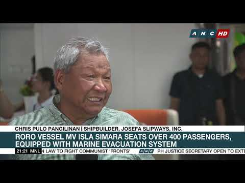 PH-made roll on, roll off vessel unveiled in Manila