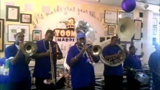 Bay City Brass Band visits Toomey's Mardi Gras 2012