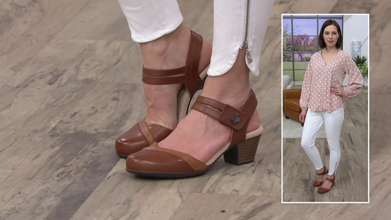667f74e79 Clarks Collection Leather Heeled Mary Janes - Valarie Rally on QVC ...
