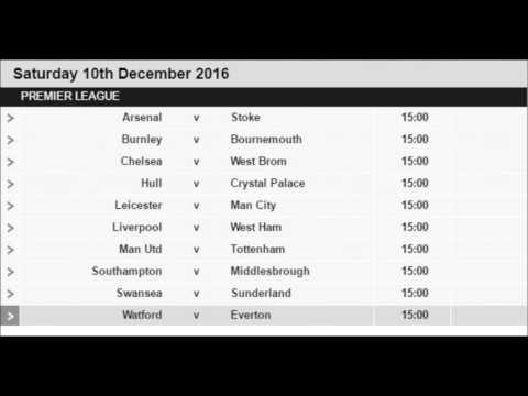 English Premier League Fixtures 2016-17