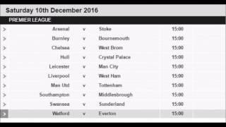English Premier League Fixtures 2016-17
