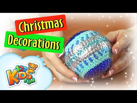 🎄 DIY by Creative Mom How to make top Christmas Decorations - Christmas Wreath , Baubles and Chains