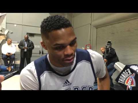 Westbrook: Shootaround in Los Angeles- Jan. 8, 2016