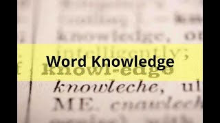 ASVAB Word Knowledge Practice Test 27