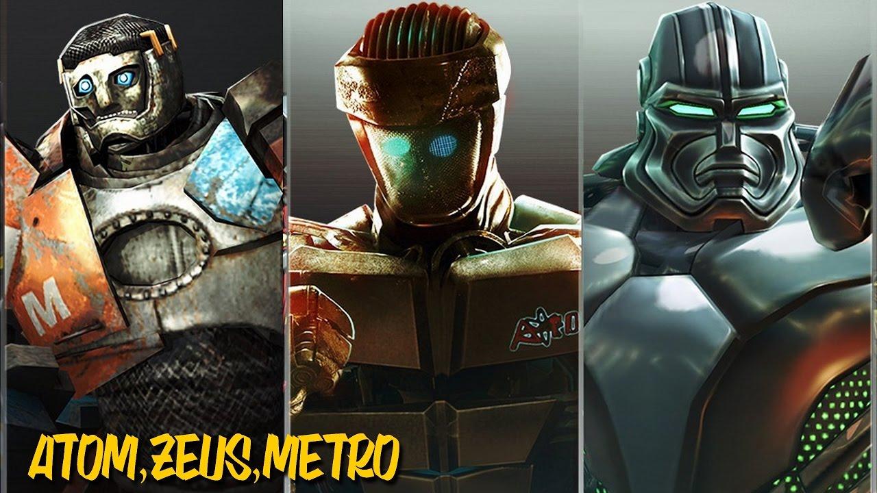 REAL STEEL - ATOM VS. METRO VS. ZEUS - Gigantes de A