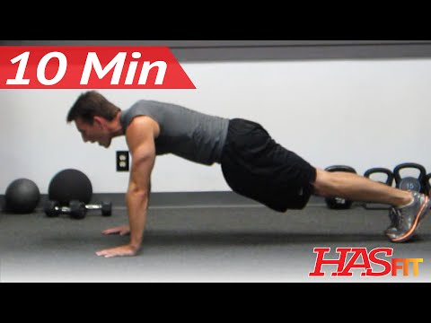 HASfit 10 Minute Chest Shoulders Triceps Workout - Chest And Triceps Exercises At Home
