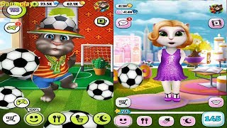 My Talking Angela  VS My Talking Tom  Gameplay Makeover for Children HD